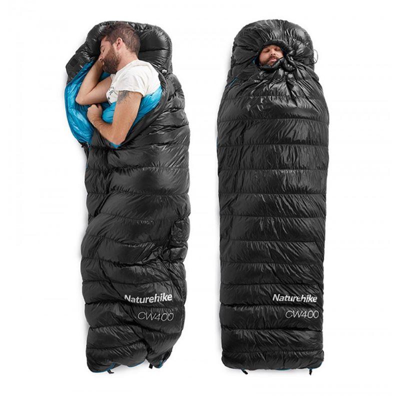 Túi ngủ mùa đông CWZ400 M & L màu đen
