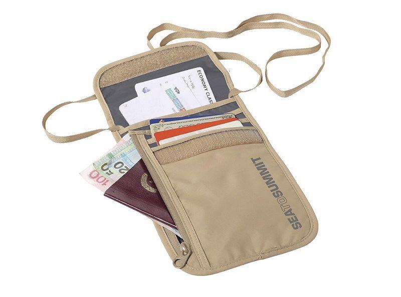 Túi đựng hộ chiếu đeo cổ Seatosummit Mỹ màu da