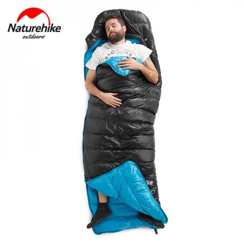 Túi ngủ lông vũ Naturehike màu đen