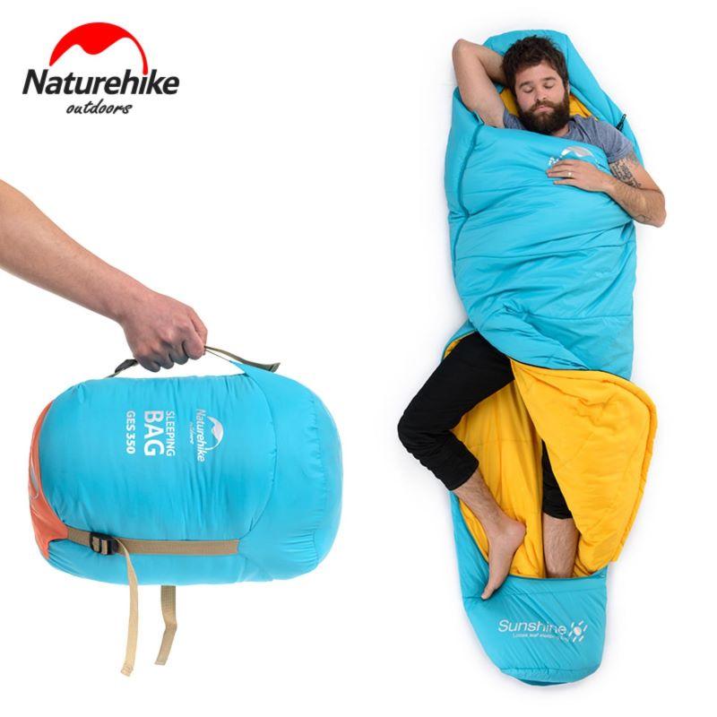 Túi ngủ đi phượt Naturehike màu xanh
