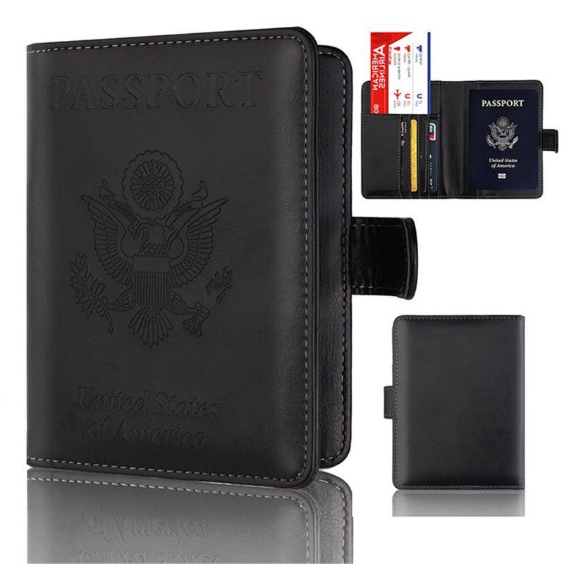 Túi đựng visa passport màu đen