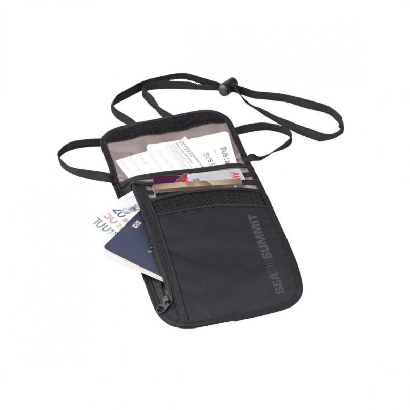 Túi đựng passprt đeo cổ màu đen